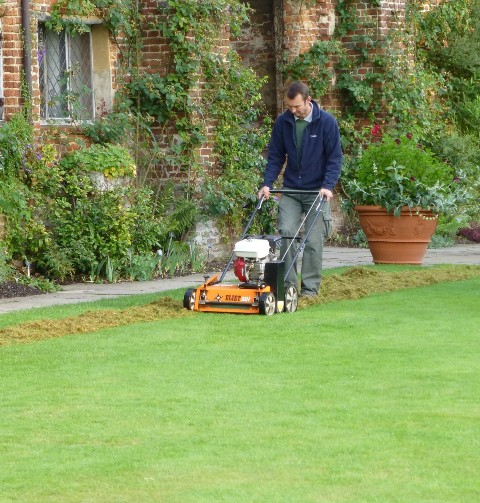 machine to tear up grass