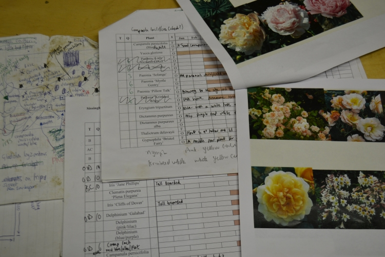 Troy's planting design and lists of plant species.