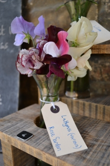 Sweet peas for visitors to look at.