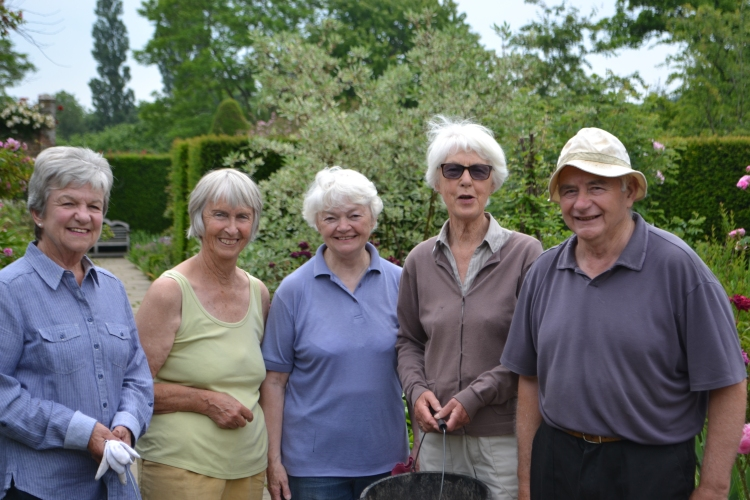 The Deadheaders from L to R: Margaret, Eileen, Greta, Sue and Harry