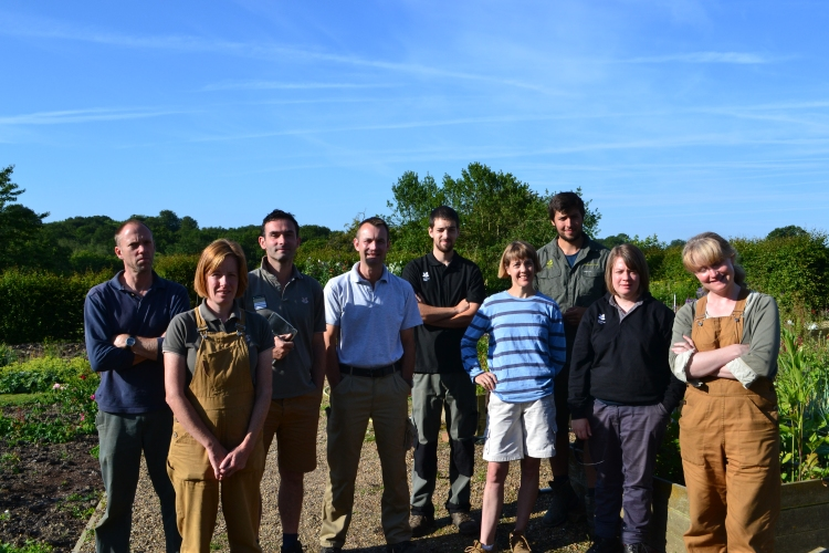 The Garden Team from L to R: Pete, Claire, Troy, Phil, Jon, Helen, Josh, Emma