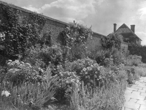 An early photo of the Rose Garden. Copyright Adam Nicolson.
