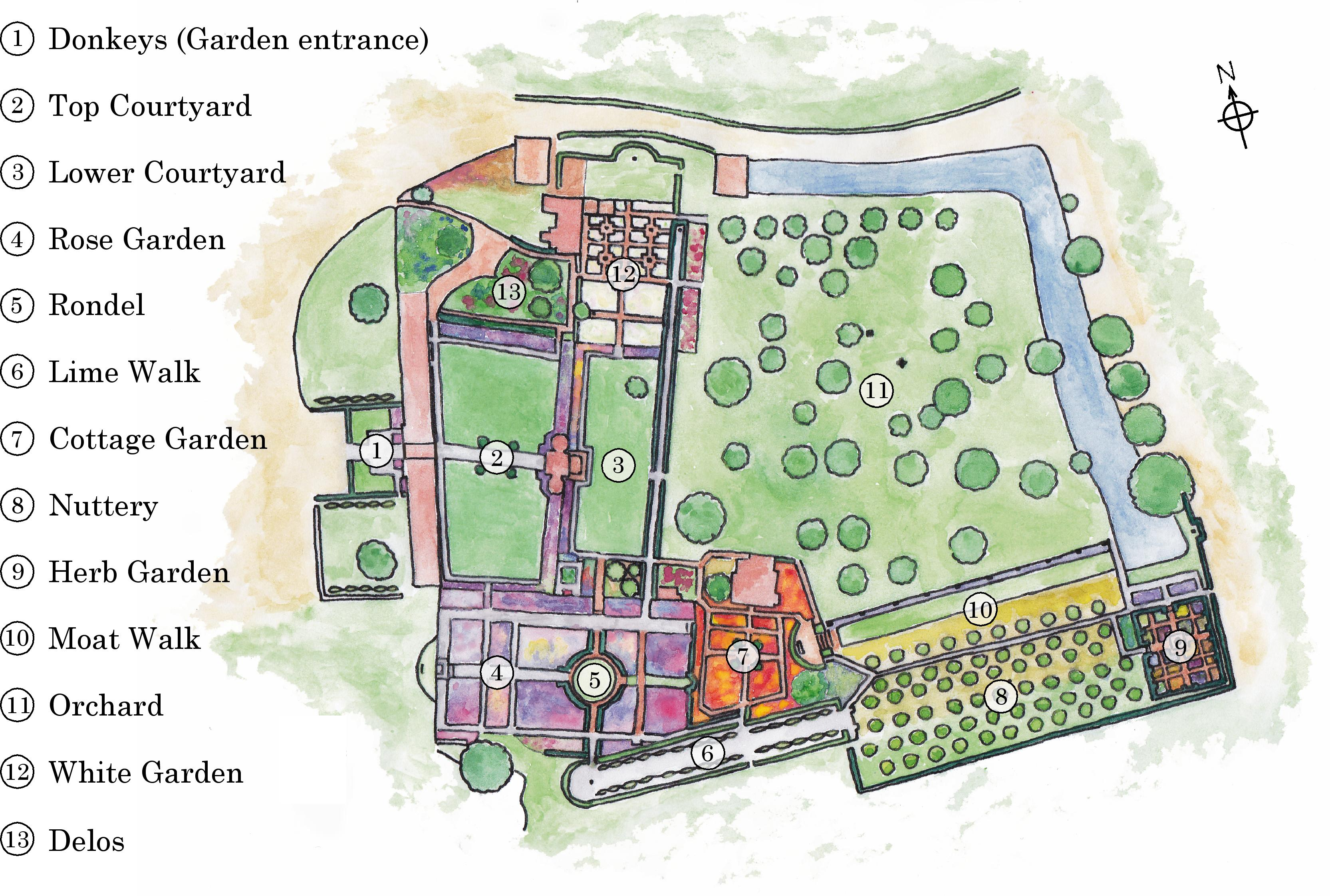 garden map sissinghurst garden ForGarden Design Map