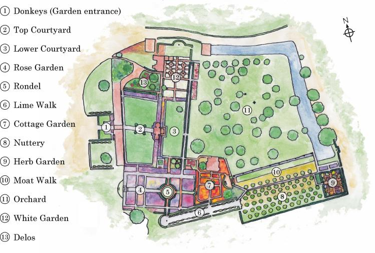 Sissinghurst Garden Map