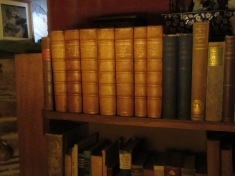 Shakespeare's works in the Nonesuch edition, 1929, on the shelves of Vita's writing room.