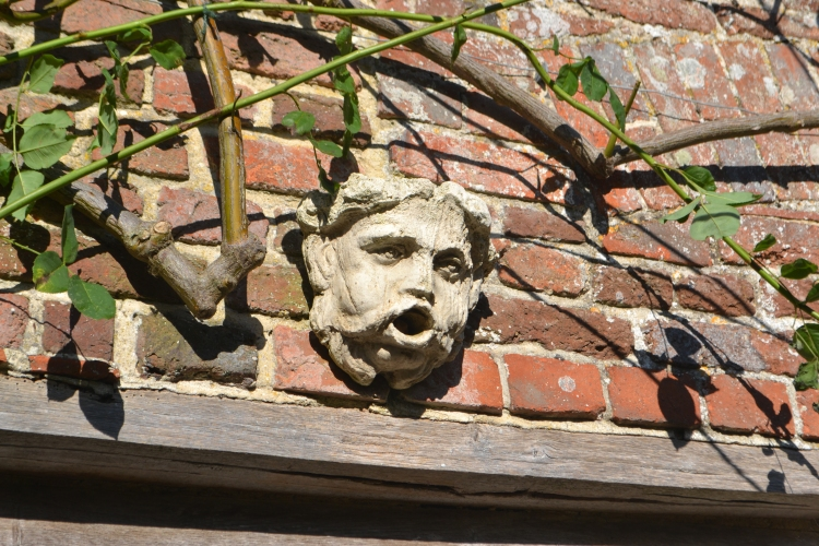 Above the front door on South Cottage.
