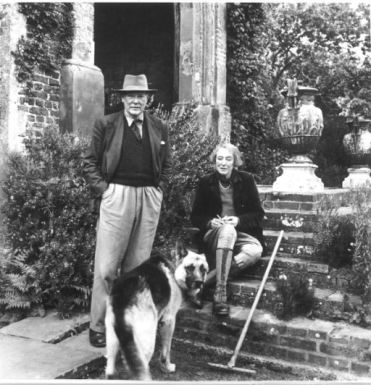 Harold and Vita with their dog, Rollo. Copyright Adam Nicolson.