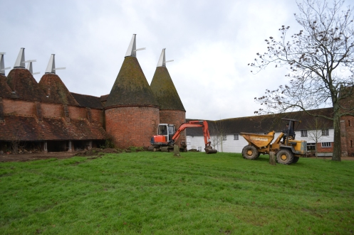 The oast grass before scraping.