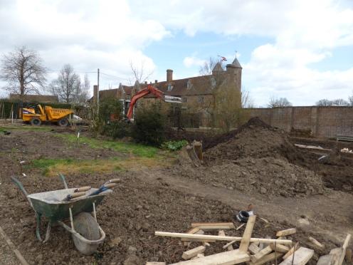 Main Area - Work begins