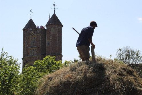 Making the haystack.