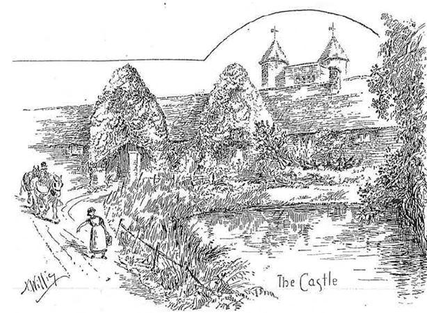 A drawing made in 1900 showing the pond