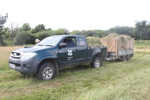 The hay ready to be transported to Sissinghurst.