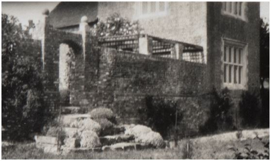Steps from the White Garden to the Little North Garden removed in 1969