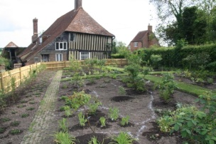 New planting in the Rose Garden