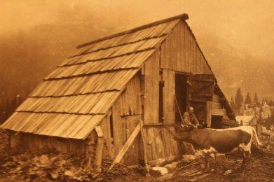 Traditional Alpine farmers